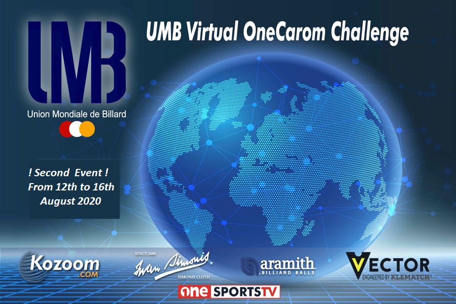 U.M.B. launches the second and third Virtual OneCarom Challenge